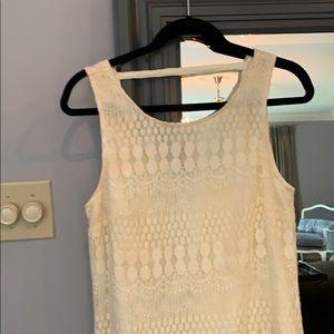 Off white summer sleeveless dress